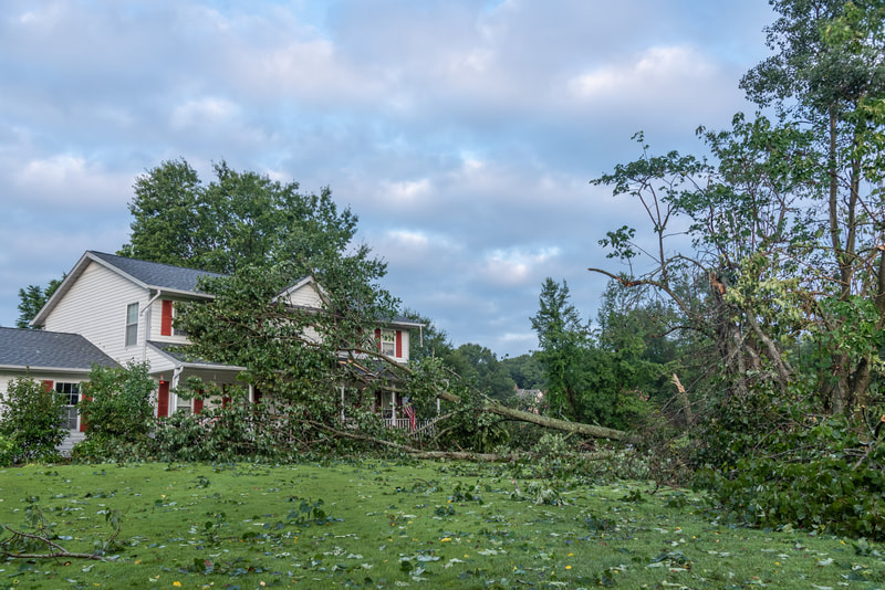 Storm Damage on House Colorado